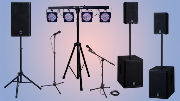 Audio Video Lighting Pick up rental packages available from Allstar Show Industries Edmonton and Calgary